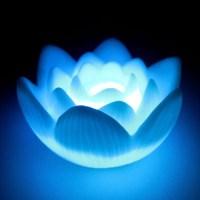 LED Lotus Flower Romantic Love Mood Lamp Night Light ...
