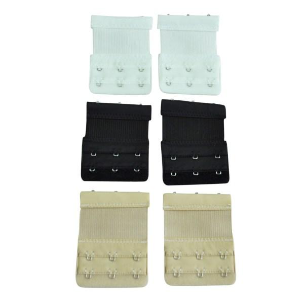 6 Pcs Bra Extender Strap Extension 3 Hooks Sets Accessories Women Ladys Ym