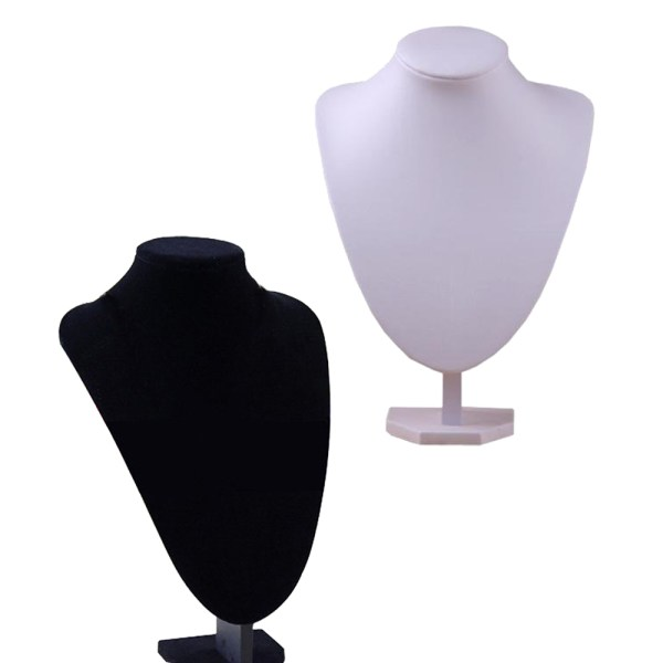 Mannequin Jewelry Necklace Display Stand Holder Black- Ps