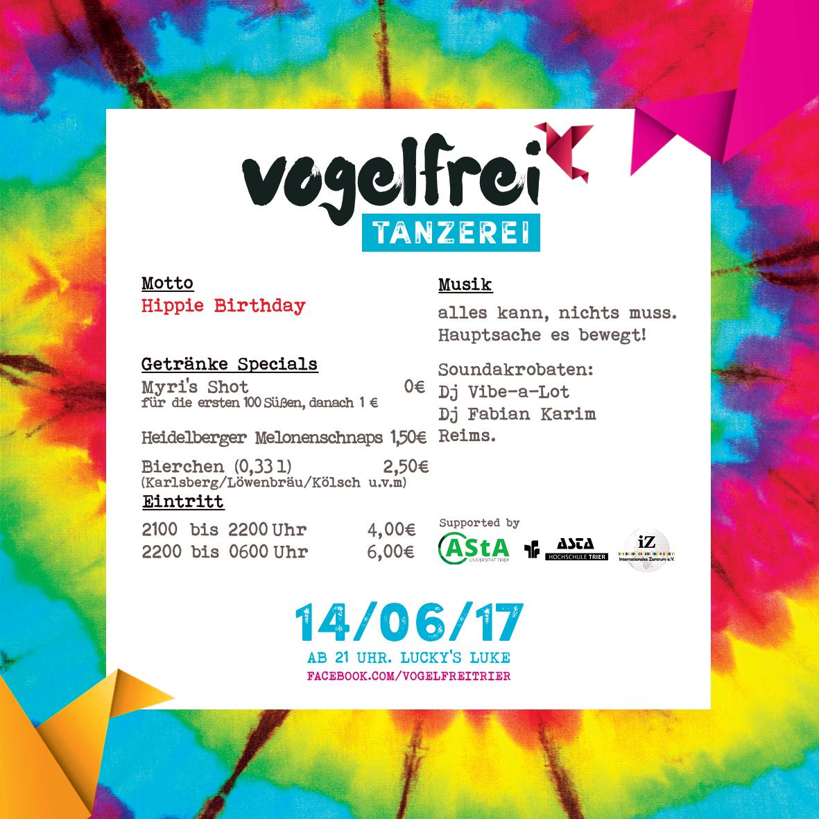 Vogelfrei Hippie Birthday