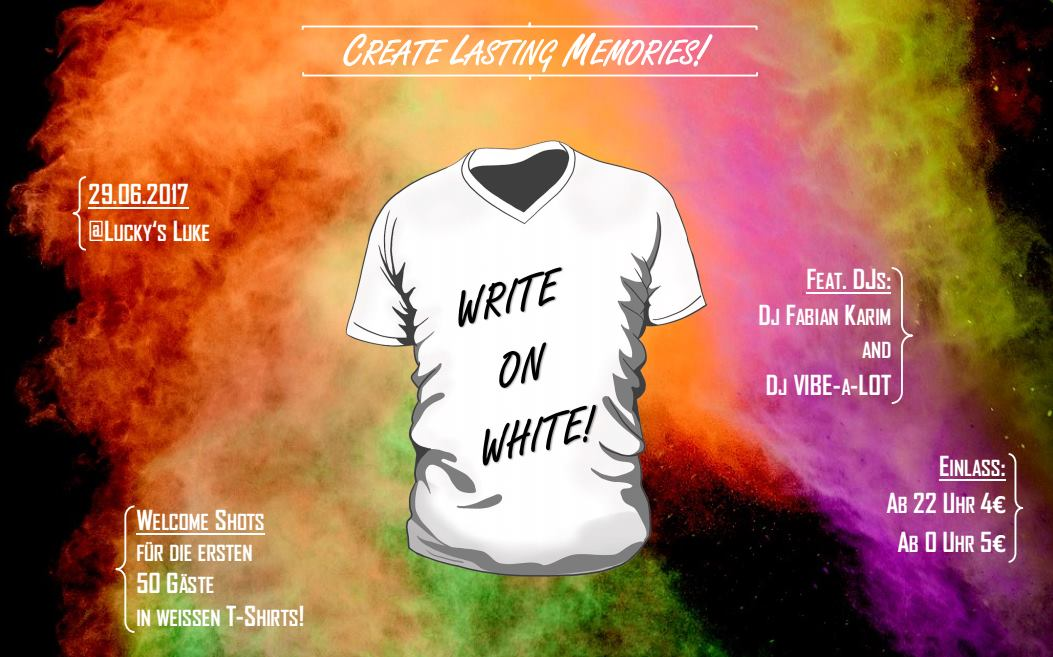 write on white