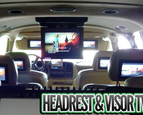 Headrest and Visor TVs