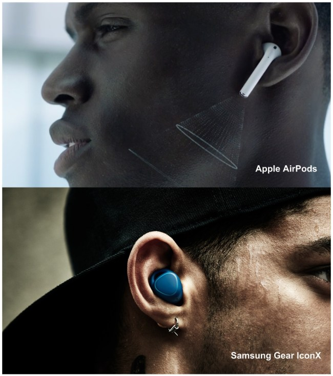 airpods and iconx