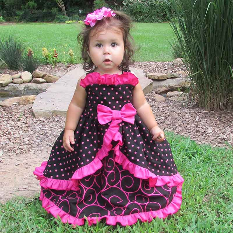 Cutest Ruffled Baby  Toddler Birthday Dress Ever  Lucky