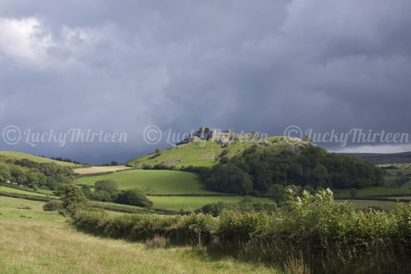 Carreg Cennen Castle, Brecon Beacons, Wales, UK