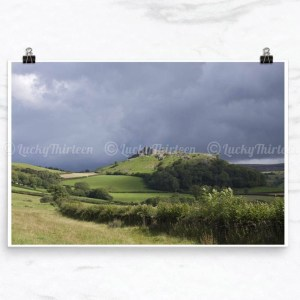 Carreg Cennen Castle, Brecon Beacons, Wales, UK