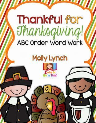 Thankful for Thanksgiving ABC Order Word Work | Lucky to Be in First