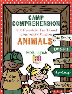Camp Comprehension - Close Reading for 1st Grade Lucky to Be in First