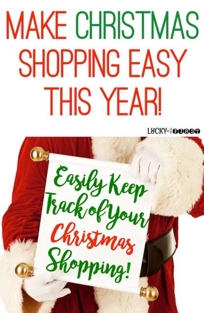 Make Christmas Shopping Easy This Year! Grab this Christmas List FREEBIE!