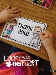 Lucky to Be in First Thank You Note