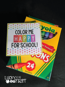 Color Me Happy for School Tag FREEBIE