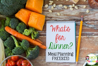 Meal Planning Freebie Lucky to Be in First Blog