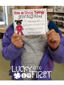 Shoe Tying Strategies for First Graders | Lucky to Be in First