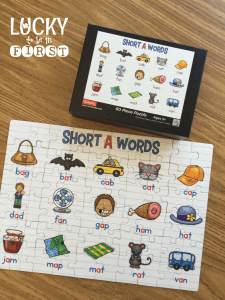 Short Vowel Puzzles from Lucky to Be in First | Upload high-res photo to Shutterfly and create a puzzle for students to complete!