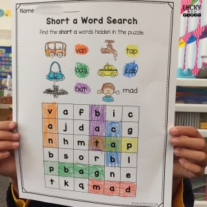 Short A Word Search makes learning short vowels fun!   Lucky to Be in First