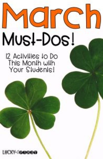 12 Activities to Do in March! Grab some ideas & FREEBIES to make your month easy!