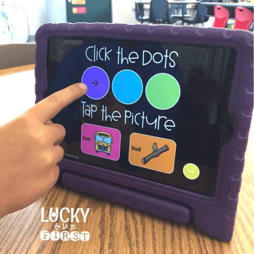 Phonics Sound Tappers | Digital Phonics Task Cards | Lucky to Be in First