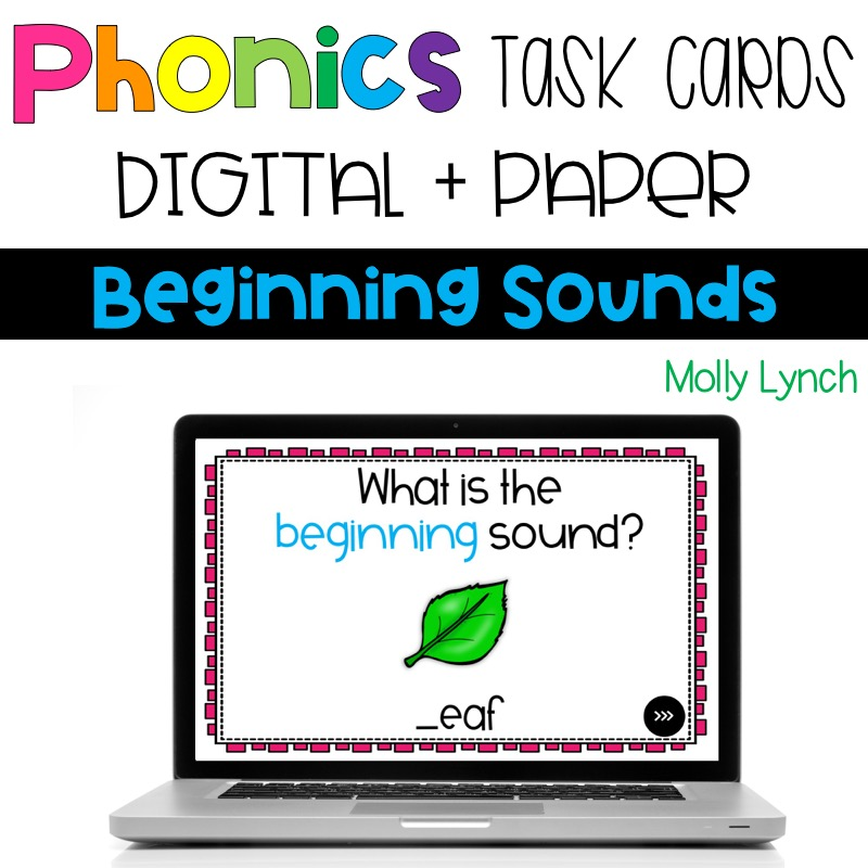 photograph about Printable Task Cards identified as Starting Appears Electronic Phonics Process Playing cards