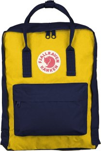 Fjällräven Kånken Yellow and Blue Backpack