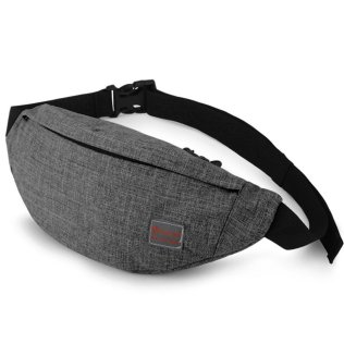 Tinyat Grey Bum Bag