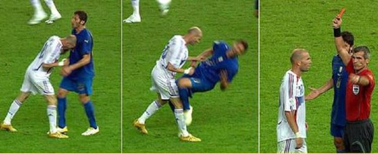 Zidane húc đầu