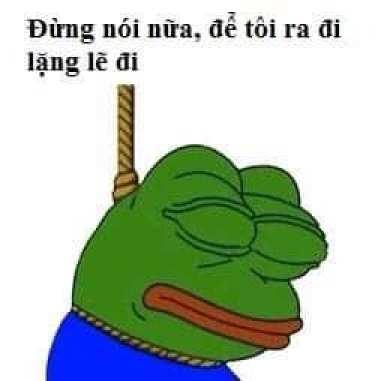 Đừng nói nữa, để tôi ra đi lặng lẽ đi - Pepe Frog meme