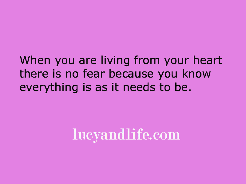Living from your heart