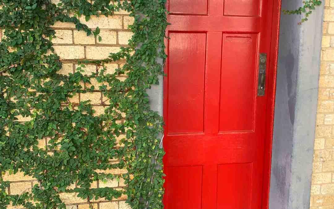 What's behind the door in front of you?