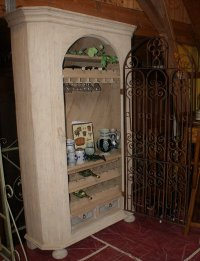 Large Pine Wine Cabinet  Luc's