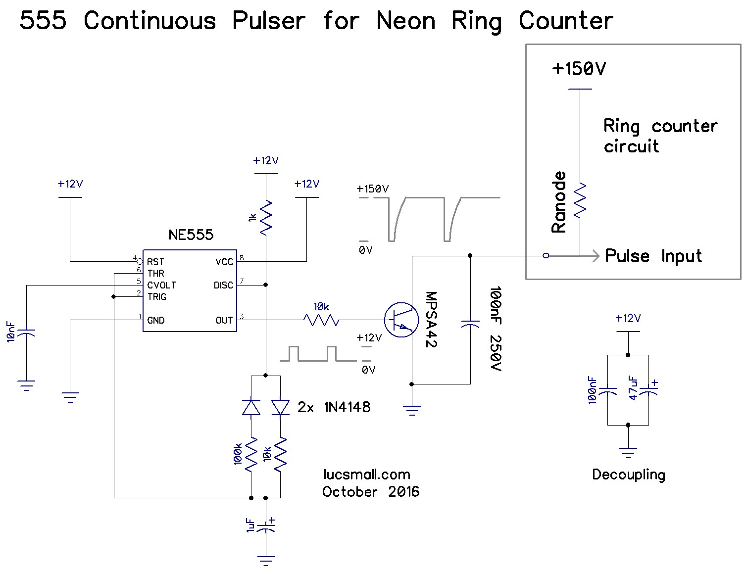 hight resolution of continuous pulsing circuit