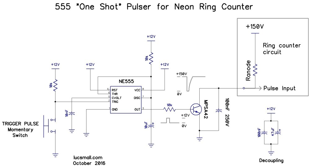 medium resolution of  neon anodes low to advance the count following ronald decker s advice i added a 100nf 250v dc capacitor across the transistor he used 27nf