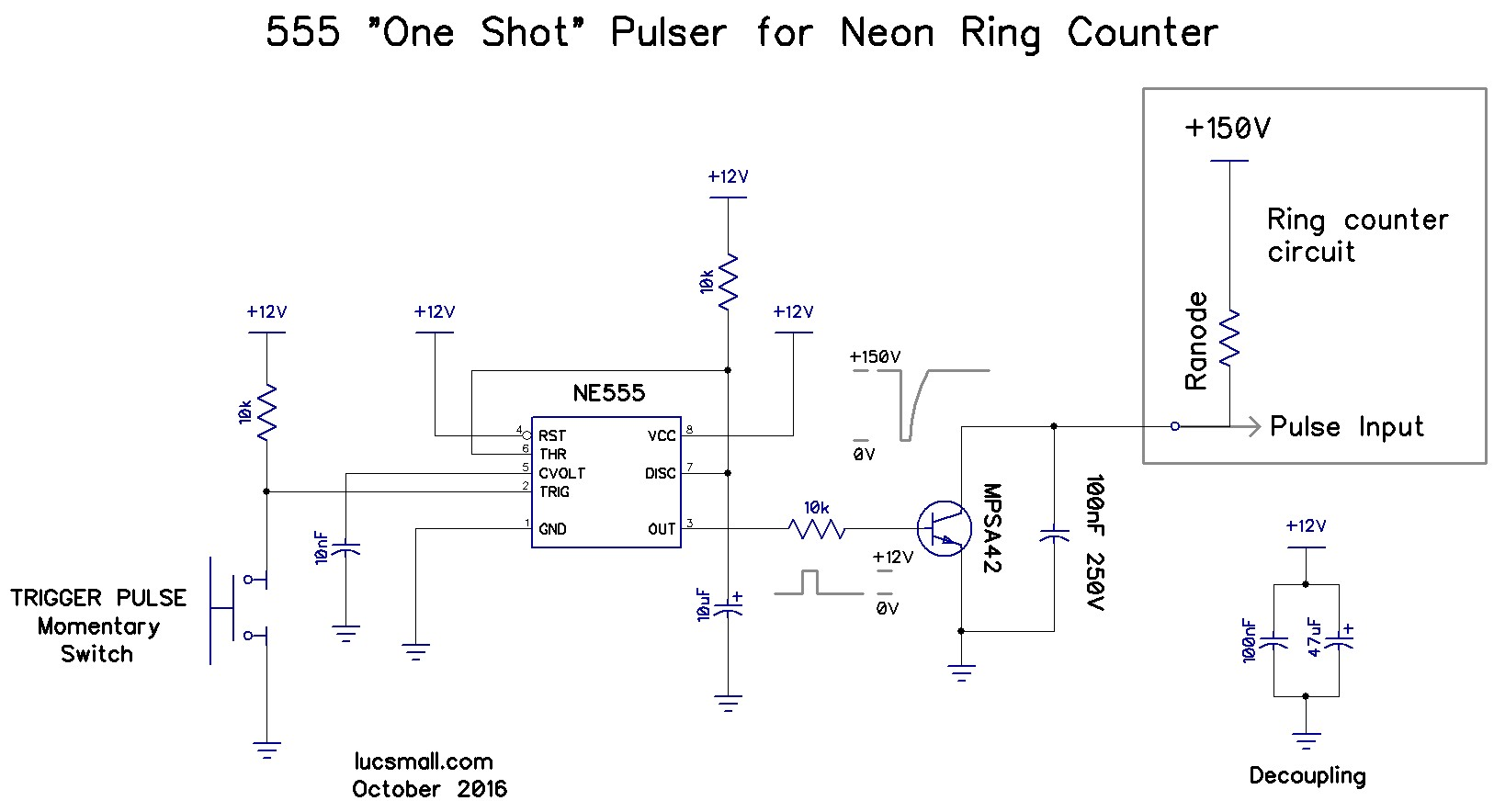 hight resolution of  neon anodes low to advance the count following ronald decker s advice i added a 100nf 250v dc capacitor across the transistor he used 27nf