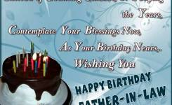 Fabulous Cake Birthday Wishes For Father In Law E Card
