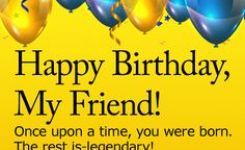 Party On Happy Birthday Wishes Card For Friends