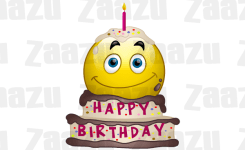 Animated Emoticons Birthday Cake