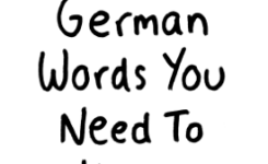 German Words You Need To Know
