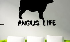 Angus Life Funny Christmas Dairy Cow Animal Prints Vinyl Decals Wall Stickers Bedroom Living Room