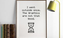 The Graphics Are Not That Good Print Man Cave Decor Funny Wall Art