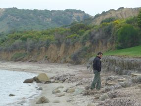 Don on the beach at ANZAC Cove