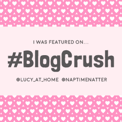 I was featured on Blog Crush linky on lucyathome.co.uk