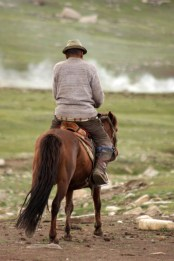 Nomad in the Naiman Nuur (8 lakes) area