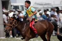 Naadam festival horse racing, Khovd city, West Mongolia
