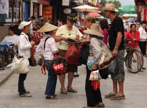 Tourists on West street, Yangshuo, Guangxi