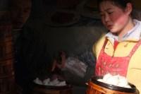Steamed dumplings seller, Litang, Sichuan