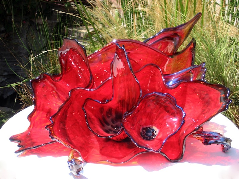 Glass Flower Sculptures