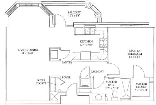 small resolution of lucy corr independent living apartments floorplans castlewood 1 br 863 square