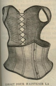 1870 posture corset, to keep the shoulders back and spine erect. Click through for a lovely case study by Creative Couture