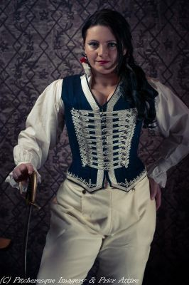 Custom Waistcoat corset by Prior Attire.