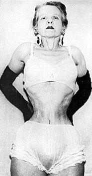Ethel Granger without corset bare waist