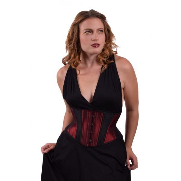 hourglass burgundy waist cincher